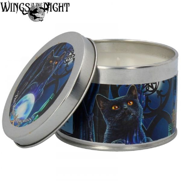 LISA PARKER Witches Apprentice Black Cat Tin Candle by Nemesis Now